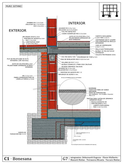Detalle Muro de Sotano