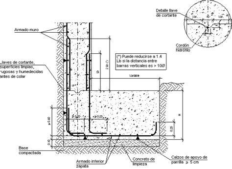 Detalles Constructivos. CYPE. CCM018: Arranque de muro en ...