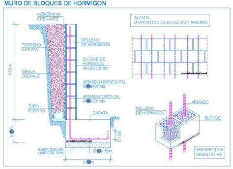 DETALLES CONSTRUCTIVOS EN DWG PARA AUTOCAD   Muro de ...