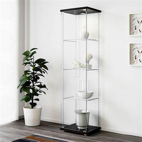 DETOLF Glass door cabinet   black brown   IKEA