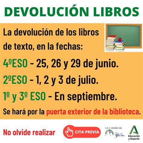 Devolución libros de texto – IES Sierra de Mijas