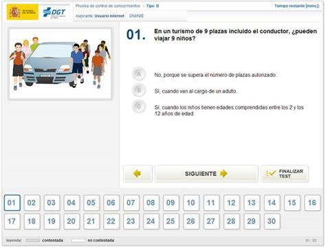 DGT: Test para Obtener el Carnet de Conducir  Simulador