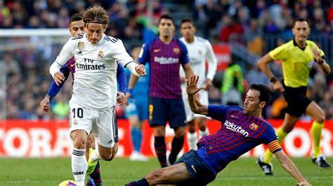 Día y hora del clásico Real Madrid   Barcelona