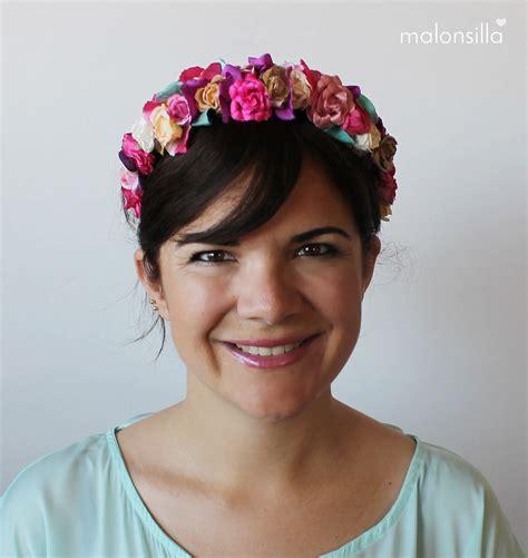 Diadema de flores Siena para Paula   Malonsilla   Tocados ...