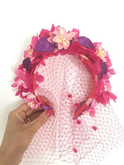 diademas y tocados de flores a todo color  . . . # ...
