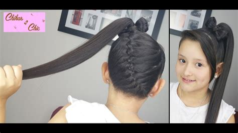 Diagonal Braid into a Ponytail Bow! | Braided Hairstyles ...