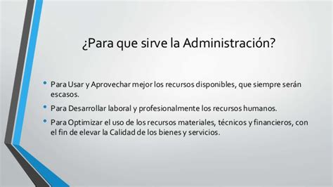 Diapositiva sobre Administracion de Empresas