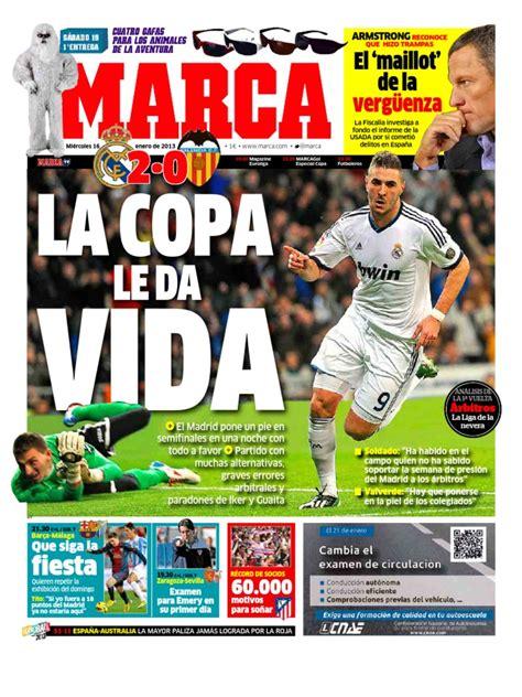 Diario Deportivo Marca 16 1 2013 | Real Madrid C.F. | Fútbol