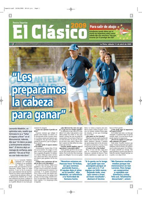 Diario Hoy La Plata   El Clasico  11 de Abril 2009 by ...