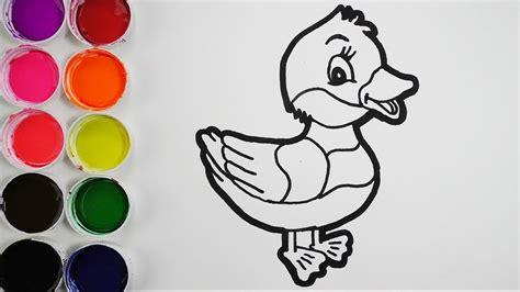 Dibuja y Colorea Un Pato de Arco Iris   Dibujos Para Niños ...