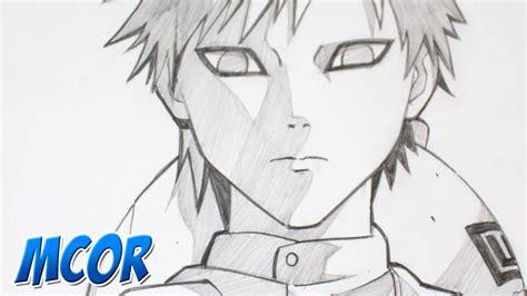 Dibujando a Gaara de Naruto   Lapiz   YouTube
