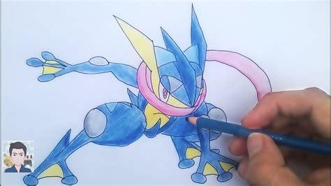 Dibujando a Greninja / Dibujo de Gekkouga Pokémon XYZ ...
