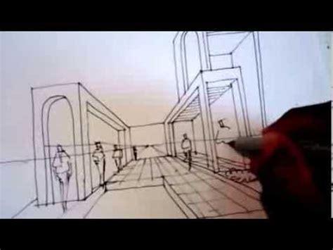 Dibujar una perspectiva usando un punto central Arq. David ...