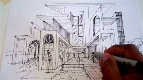 Dibujar usando un punto de fuga para la perspectiva Arq ...
