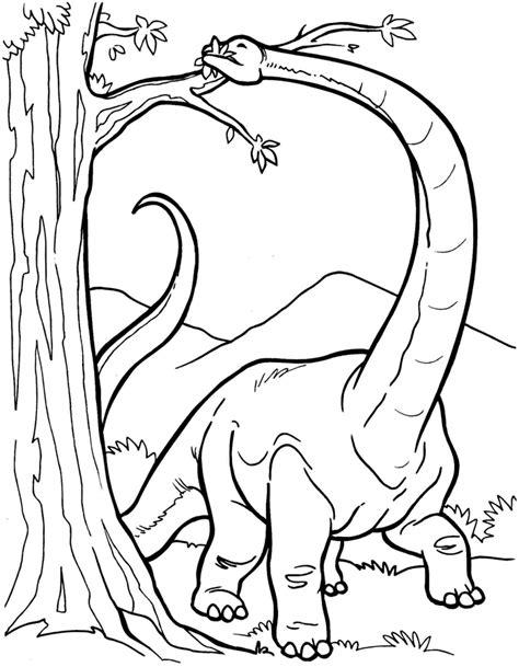 Dibujo colorear dinosaurio Diplodocus comiendo ...