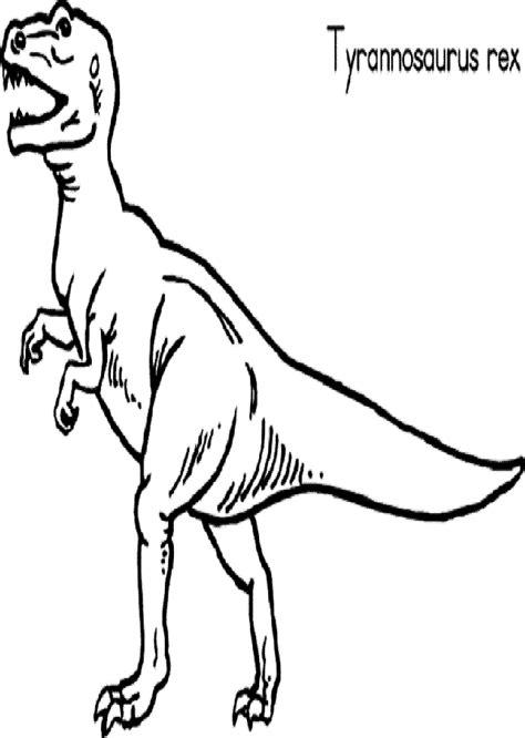 dibujo colorear dinosaurio rex   Dibujos para colorear