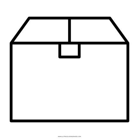 Dibujo De Caja De Cartón Para Colorear   Ultra Coloring Pages