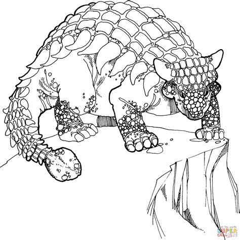 Dibujo de Dinosaurio Anquilosaurio del Periodo Cretáceo ...