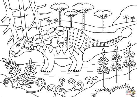Dibujo de Dinosaurio Anquilosaurio para colorear   Dibujos ...