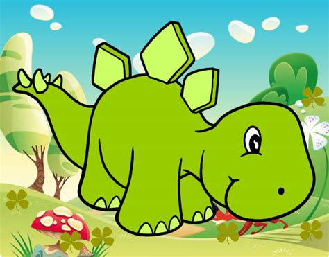 Dibujo de Dinosaurio bebe pintado por Dianarushe en ...