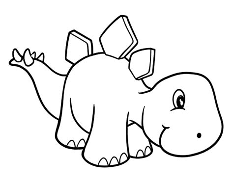 Dibujo de Estegosaurio bebé para colorear | Libro de ...