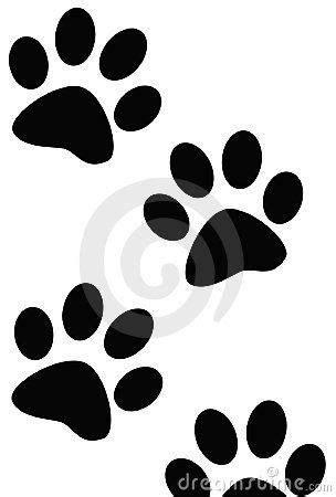 Dibujo de huellas de perro. … | Dibujos de perros, Huella ...