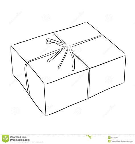 Dibujo de la caja ilustración del vector. Ilustración de ...
