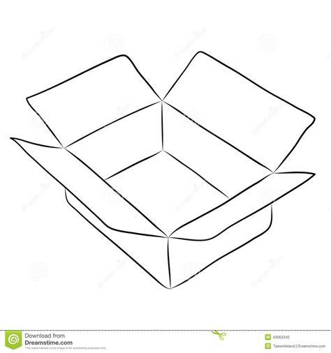Dibujo De La Caja Ilustración del Vector   Imagen: 43063340