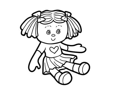 Dibujo de Muñeca de juguete para Colorear   Dibujos.net