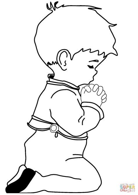Dibujo de Niño orando para colorear | Dibujos para ...