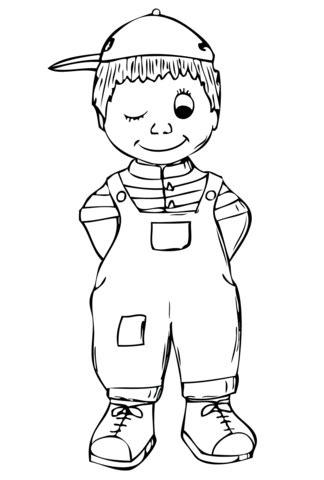 Dibujo de Niño para colorear | Dibujos para colorear ...