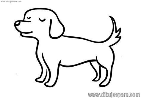 Dibujo de Perro fácil para colorear – Dibujos para Colorear