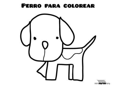 Dibujo de perro para colorear y para imprimir