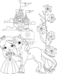 Dibujo de Princesa y unicornio para colorear   Colorear ...