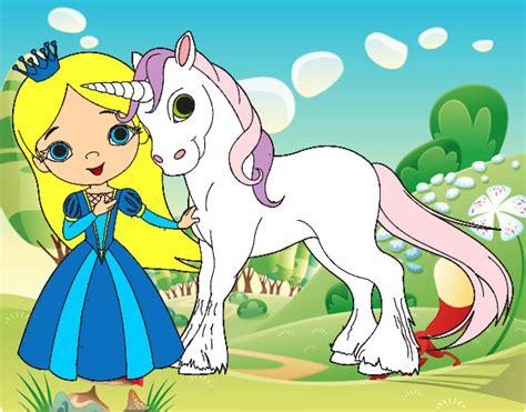Dibujo de Princesa y unicornio pintado por Iai14 en ...
