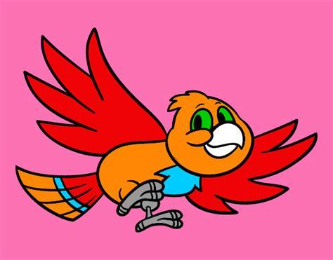 Dibujo de quisiera volar libre como un ave pintado por ...