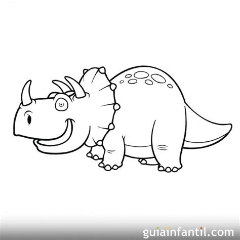Dibujo de Triceratops para niños
