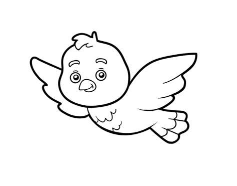 Dibujo de Un pájaro para Colorear   Dibujos.net