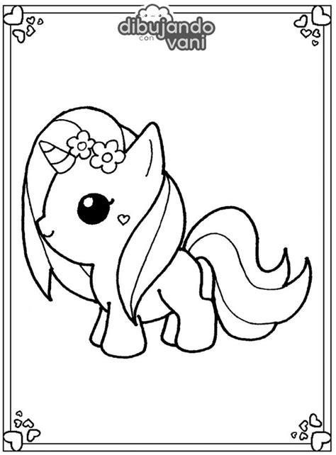 Dibujo de un unicornio 4 para imprimir y colorear ...