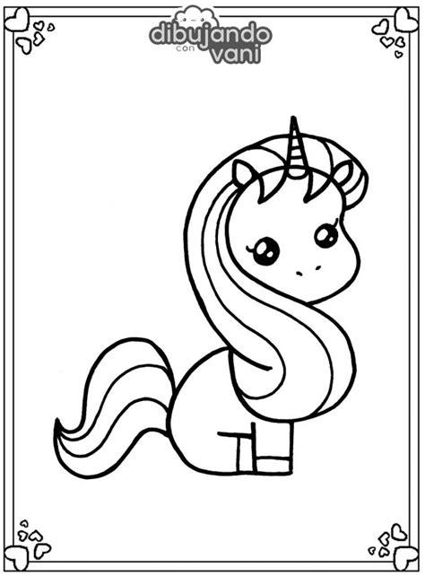 Dibujo de un unicornio 6 para imprimir y colorear ...