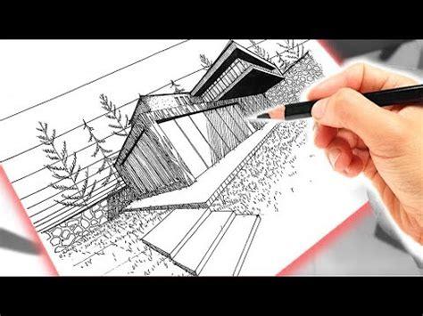 Dibujo de una casa usando PERSPECTIVA A DOS PUNTOS DE FUGA ...