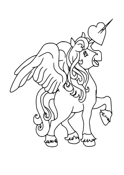Dibujo de unicornio kawaii para imprimir y colorear【2020】