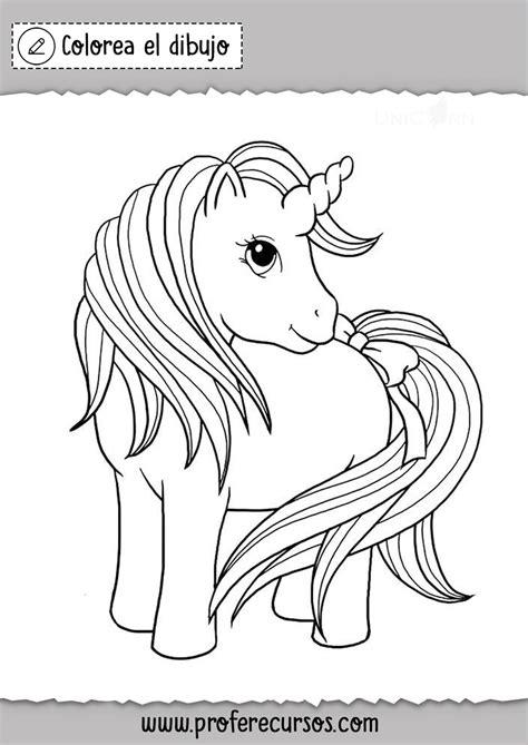 Dibujo de Unicornio para Pintar   Profe Recursos