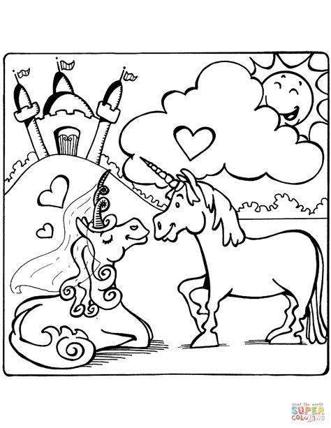 Dibujo de Unicornios enamorados para colorear   Dibujos ...