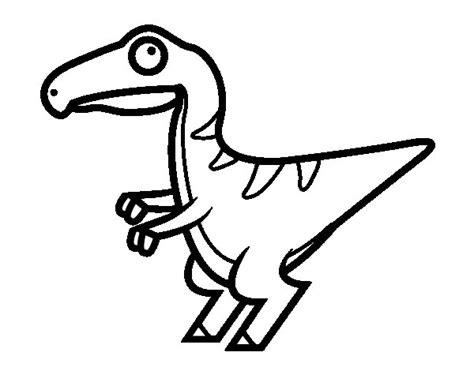 Dibujo de Velociraptor bebé para Colorear   Dibujos.net