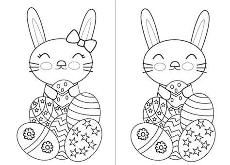 Dibujo del conejito de Pascua para imprimir   Manualidades