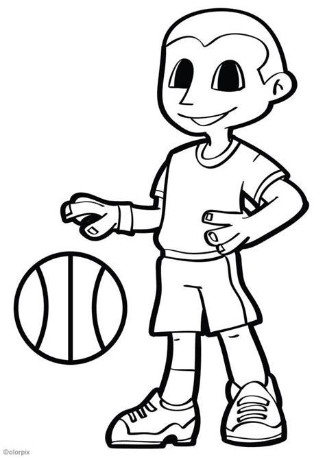 Dibujo para colorear baloncesto   Dibujos Para Imprimir Gratis