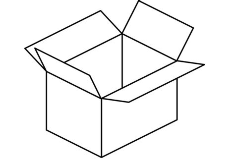 Dibujo para colorear caja   Dibujos Para Imprimir Gratis