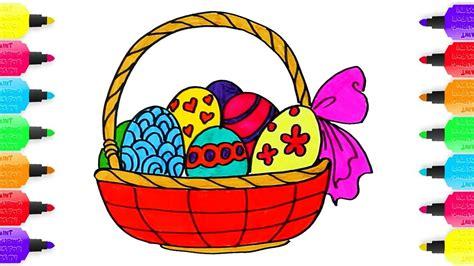 Dibujo para colorear Cesta huevos de pascua de Arco Iris # ...
