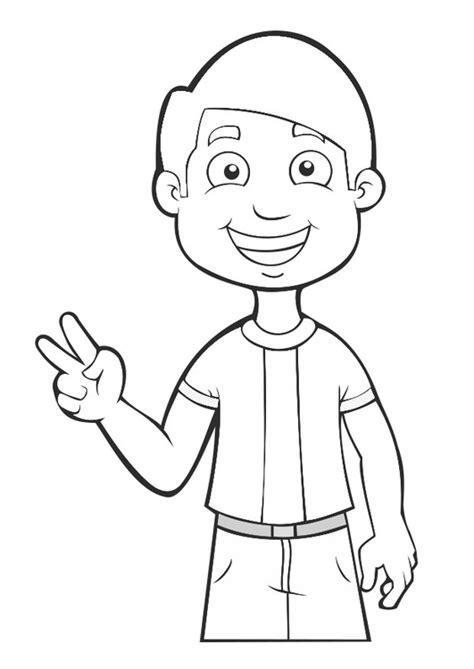 Dibujo para colorear niño   paz   Dibujos Para Imprimir ...